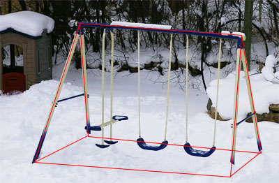 Triangular prisms and pyramids math central for T shaped swing set